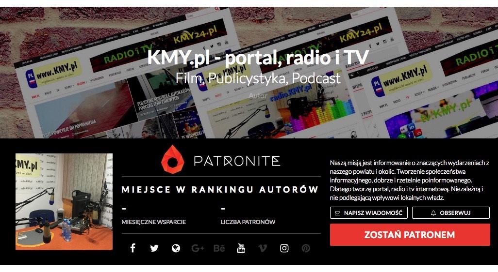 KMY.pl na portalu Patronite.pl