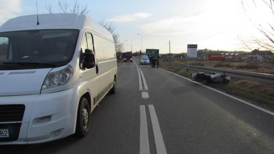 Dobczyce. Wypadek z udziałem motocyklisty